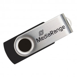 MediaRange usb2.0 flash drive 16gb black/silver
